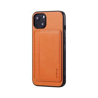 iPhone 13 ケース LEPLUS ポケット兼スタンド付PUレザーケース SHELL CARD キャメル iPhone 13