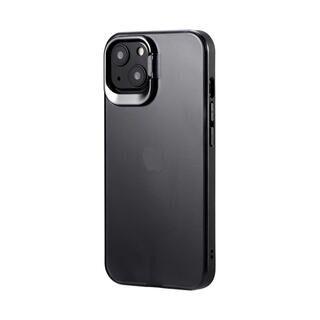 iPhone 13 ケース LEPLUS スタンド付耐衝撃ハイブリッドケース SHELL STAND フロストブラック iPhone 13