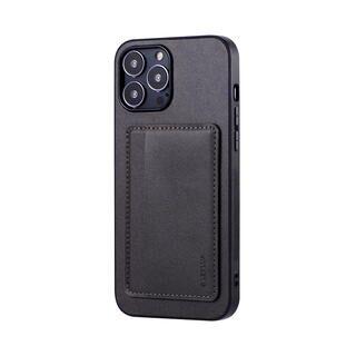 iPhone 13 Pro Max (6.7インチ) ケース LEPLUS ポケット兼スタンド付PUレザーケース SHELL CARD ダークグレー iPhone 13 Pro Max