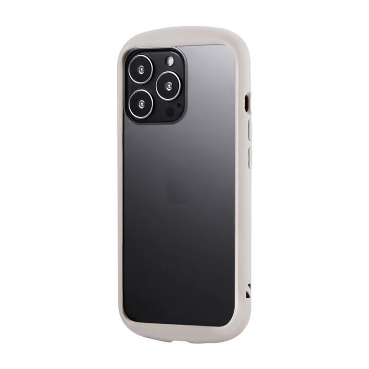 LEPLUS 耐衝撃ハイブリッドケース Cleary コールドグレー iPhone 13 Pro_0