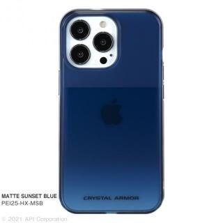 iPhone 13 Pro ケース CRYSTAL ARMOR HEXAGON MATTE SUNSET BLUE iPhone 13 Pro