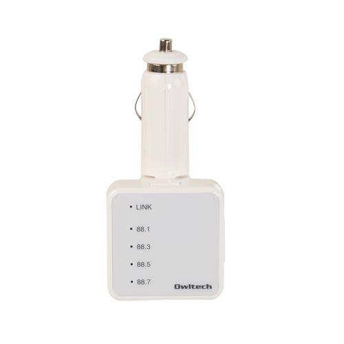 12-24V車対応 Bluetooth ver3.0 FMトランスミッター ホワイト
