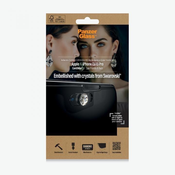 PanzerGlass パンザグラス Swarovski製カメラスライダー付き抗菌スクリーンプロテクタ iPhone 13/iPhone 13 Pro_0