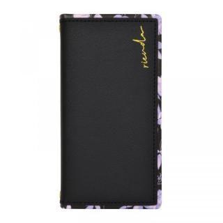 iPhone 13 Pro Max (6.7インチ) ケース rienda スクエア手帳 Gentle Flower ブラック iPhone 13 Pro Max