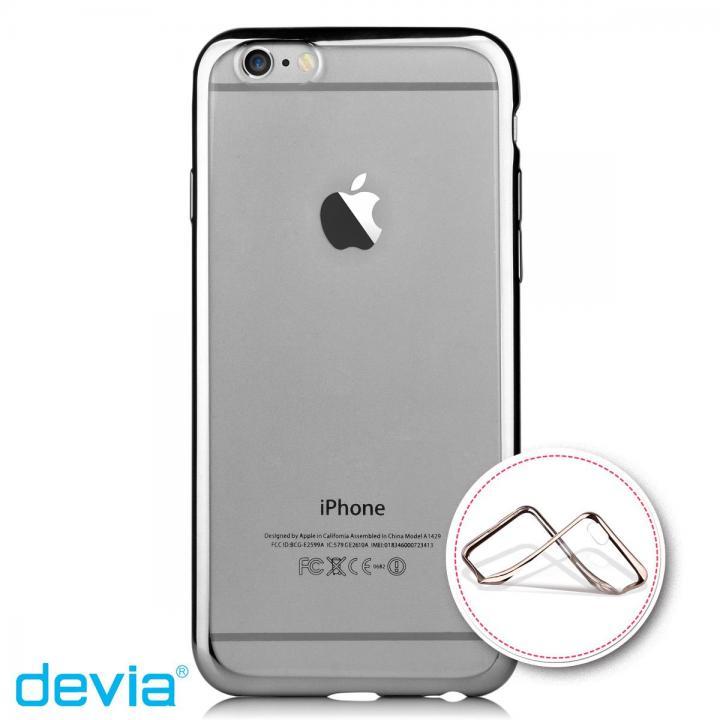 メッキメタル風TPUケース ブラック iPhone 6s/6