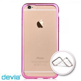 メッキメタル風TPUケース ピンク iPhone 6s/6
