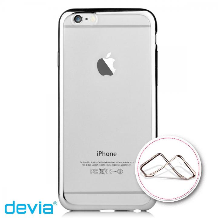 iPhone6s Plus/6 Plus ケース メッキメタル風TPUケース シルバー iPhone 6s Plus/6 Plus_0