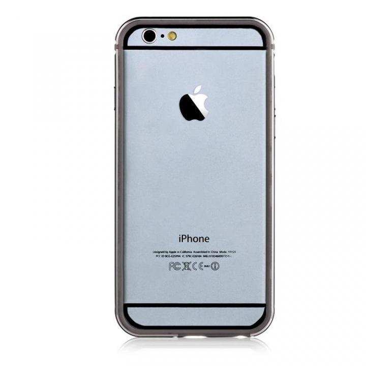 TPU/アルミバンパー ガンメタル iPhone 6s Plus/6 Plus