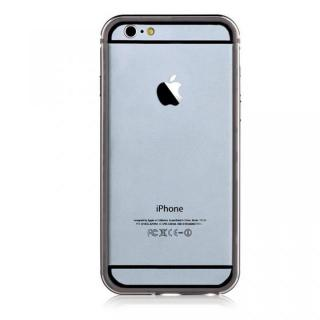 iPhone6s Plus/6 Plus ケース TPU/アルミバンパー ガンメタル iPhone 6s Plus/6 Plus