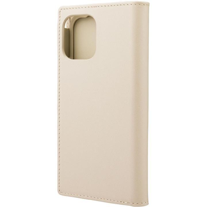 GRAMAS COLORS Italian Genuine Leather 手帳型ケース Ivory iPhone 12 mini【4月下旬】_0