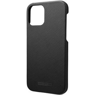 iPhone 12 / iPhone 12 Pro (6.1インチ) ケース GRAMAS COLORS EURO Passione PU Leather シェルケース Black iPhone 12/iPhone 12 Pro
