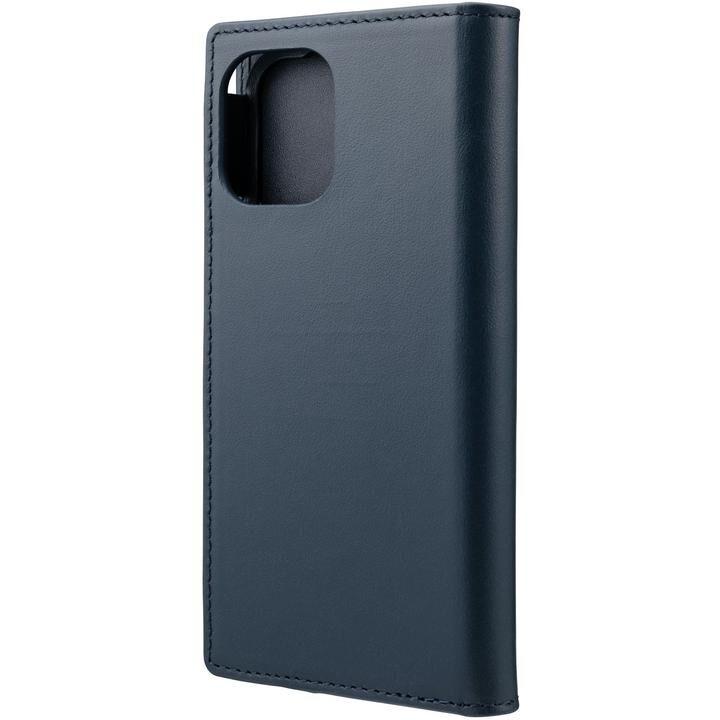 GRAMAS COLORS Italian Genuine Leather 手帳型ケース Navy iPhone 12 mini【4月下旬】_0
