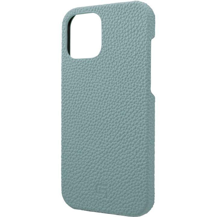 GRAMAS Shrunken-calf Leather シェルケース Baby Blue iPhone 12 Pro Max_0