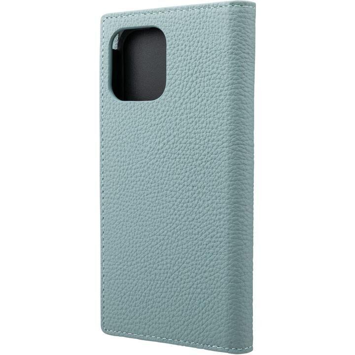 GRAMAS Shrunken-calf Leather 手帳型ケース Baby Blue iPhone 12/iPhone 12 Pro_0