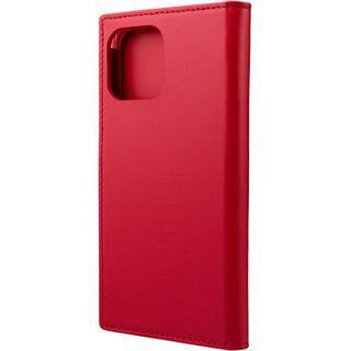 iPhone 12 / iPhone 12 Pro (6.1インチ) ケース GRAMAS COLORS Italian Genuine Leather 手帳型ケース Red iPhone 12/iPhone 12 Pro