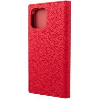 iPhone 12 / iPhone 12 Pro (6.1インチ) ケース GRAMAS Shrunken-calf Leather 手帳型ケース Red iPhone 12/iPhone 12 Pro