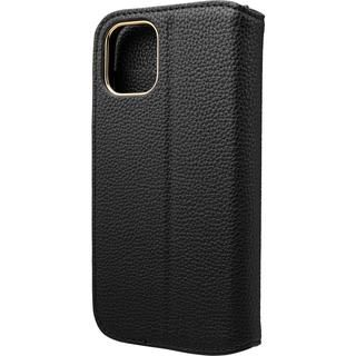 iPhone 12 mini (5.4インチ) ケース GRAMAS COLORS Shrink PU Leather 手帳型ケース Black iPhone 12 mini