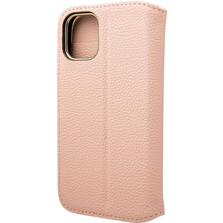 GRAMAS COLORS Shrink PU Leather 手帳型ケース Pink iPhone 12 mini_0