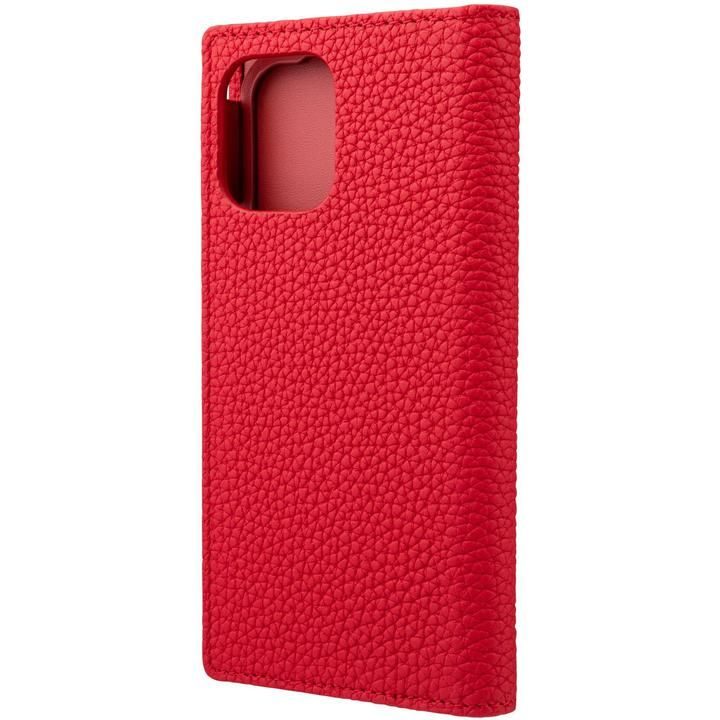 GRAMAS Shrunken-calf Leather 手帳型ケース Red iPhone 12 mini_0