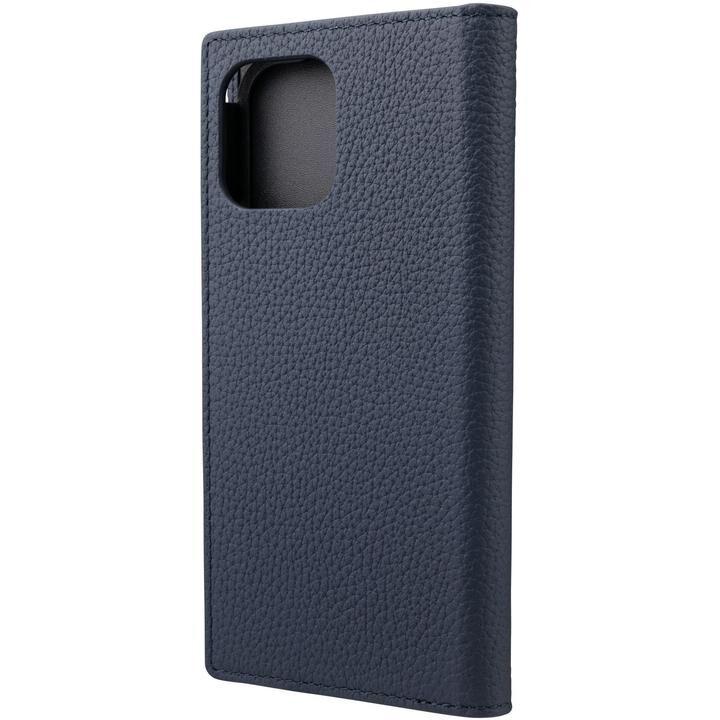 GRAMAS Shrunken-calf Leather 手帳型ケース Navy iPhone 12/iPhone 12 Pro_0