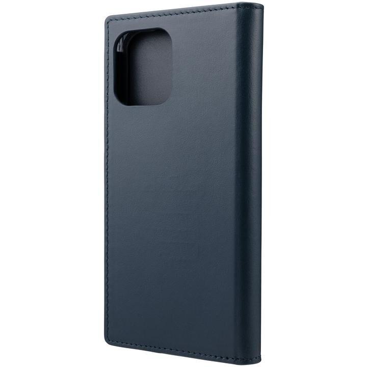 GRAMAS COLORS Italian Genuine Leather 手帳型ケース Navy iPhone 12/iPhone 12 Pro_0