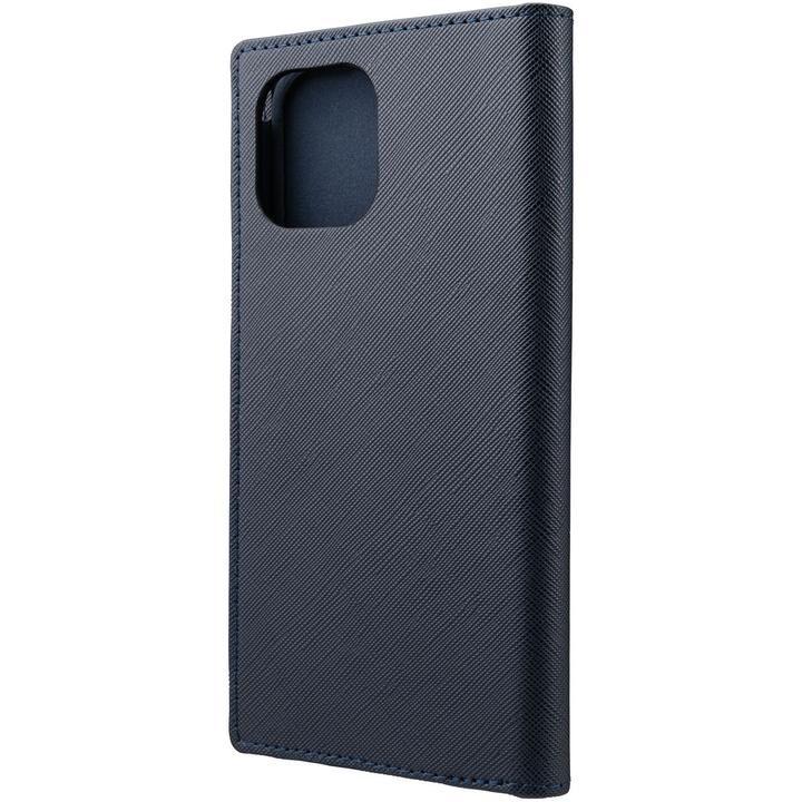 GRAMAS COLORS EURO Passione PU Leather 手帳型ケース Dark Navy iPhone 12 Pro Max_0