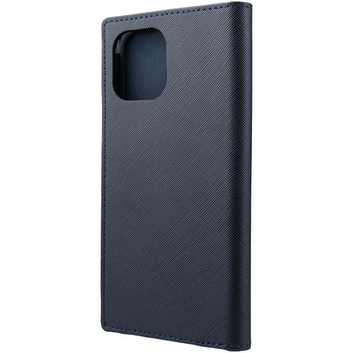 GRAMAS COLORS EURO Passione PU Leather 手帳型ケース Dark Navy iPhone 12 Pro Max_0
