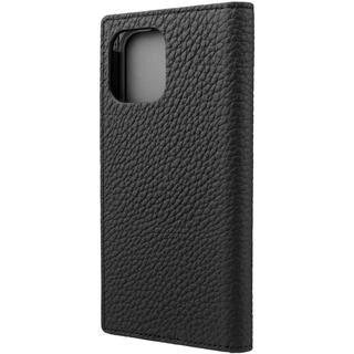iPhone 12 / iPhone 12 Pro (6.1インチ) ケース GRAMAS Shrunken-calf Leather 手帳型ケース Black iPhone 12/iPhone 12 Pro