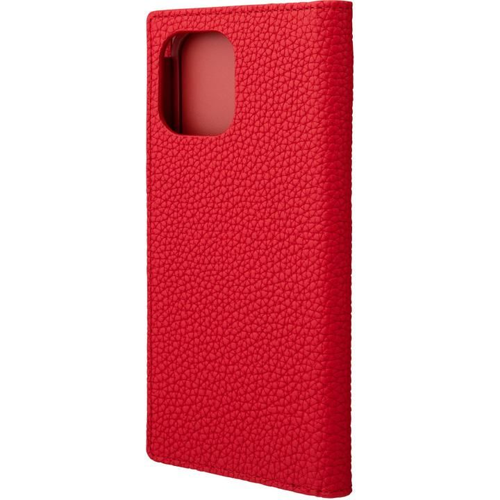 GRAMAS Shrunken-calf Leather 手帳型ケース Red iPhone 12 Pro Max_0