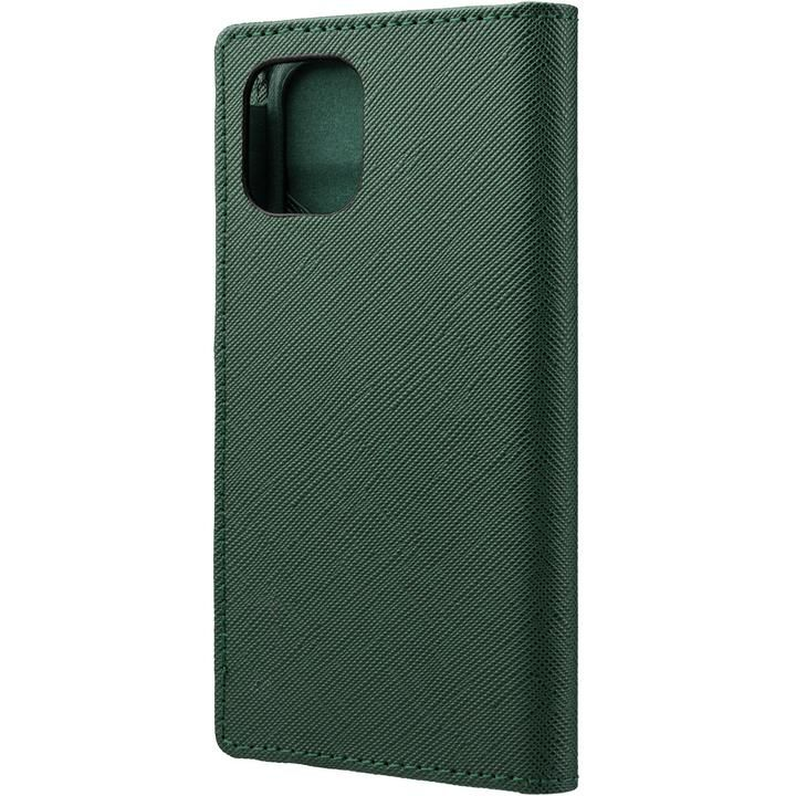 GRAMAS COLORS EURO Passione PU Leather 手帳型ケース Forest Green iPhone 12 mini_0