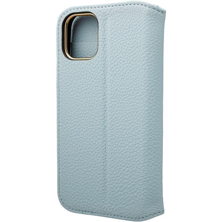 GRAMAS COLORS Shrink PU Leather 手帳型ケース Light Blue iPhone 12 mini_0