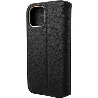 iPhone 12 / iPhone 12 Pro (6.1インチ) ケース GRAMAS COLORS Shrink PU Leather 手帳型ケース Black iPhone 12/iPhone 12 Pro