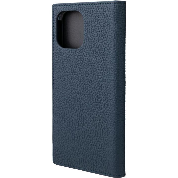 GRAMAS Shrunken-calf Leather 手帳型ケース Navy iPhone 12 Pro Max_0
