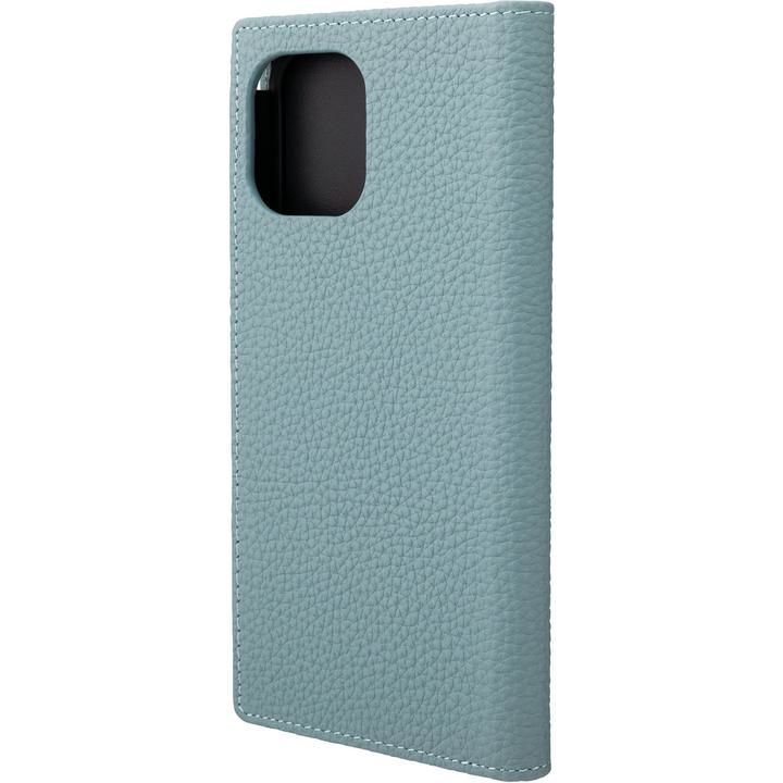 GRAMAS Shrunken-calf Leather 手帳型ケース Baby Blue iPhone 12 Pro Max_0