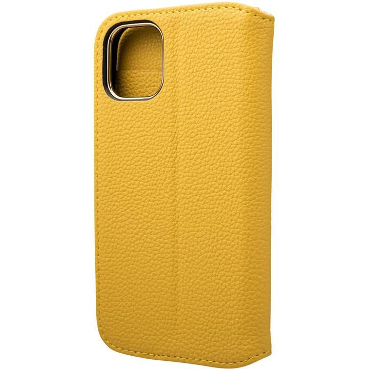 GRAMAS COLORS Shrink PU Leather 手帳型ケース Lemon iPhone 12 mini_0