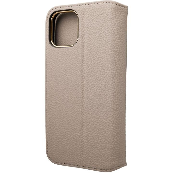 GRAMAS COLORS Shrink PU Leather 手帳型ケース Greige iPhone 12/iPhone 12 Pro_0