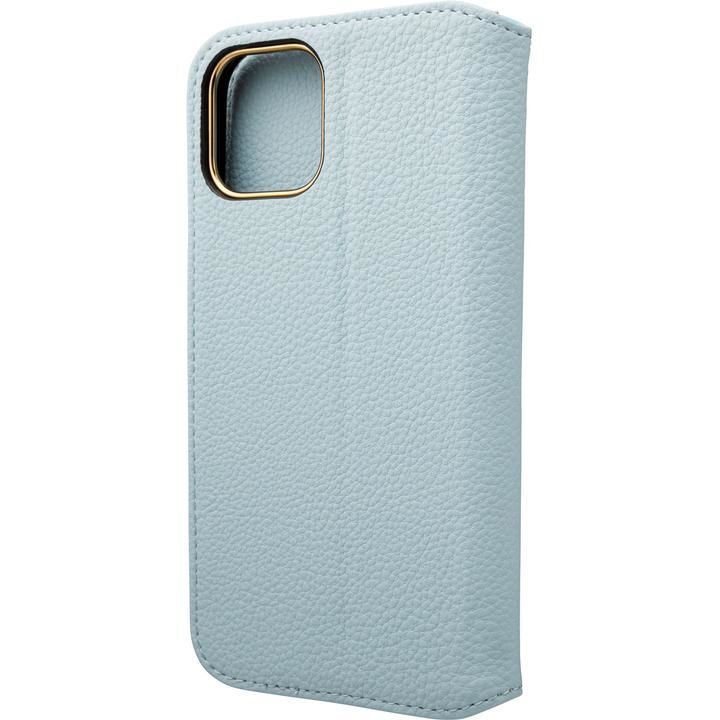 GRAMAS COLORS Shrink PU Leather 手帳型ケース Light Blue iPhone 12/iPhone 12 Pro_0