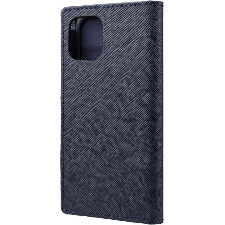 GRAMAS COLORS EURO Passione PU Leather 手帳型ケース Dark Navy iPhone 12 mini_0