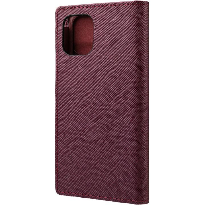 GRAMAS COLORS EURO Passione PU Leather 手帳型ケース Bordeaux iPhone 12 mini_0