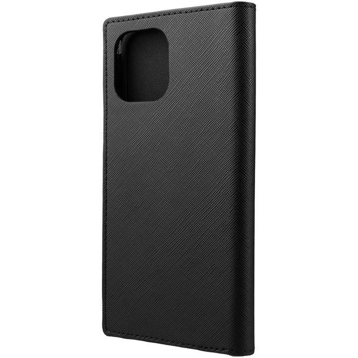 GRAMAS COLORS EURO Passione PU Leather 手帳型ケース Black iPhone 12 Pro Max_0