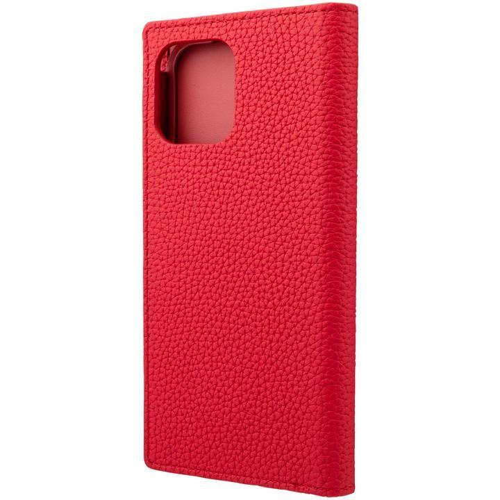 GRAMAS Shrunken-calf Leather 手帳型ケース Red iPhone 12/iPhone 12 Pro_0