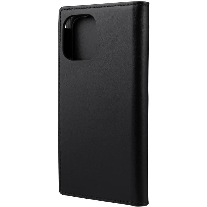 GRAMAS COLORS Italian Genuine Leather 手帳型ケース Black iPhone 12 mini_0