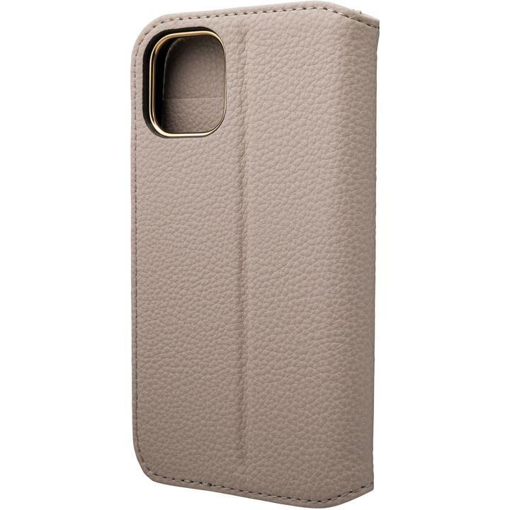 GRAMAS COLORS Shrink PU Leather 手帳型ケース Greige iPhone 12 mini_0