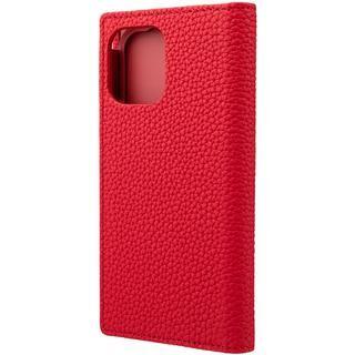 iPhone 12 mini (5.4インチ) ケース GRAMAS Shrunken-calf Leather 手帳型ケース Red iPhone 12 mini