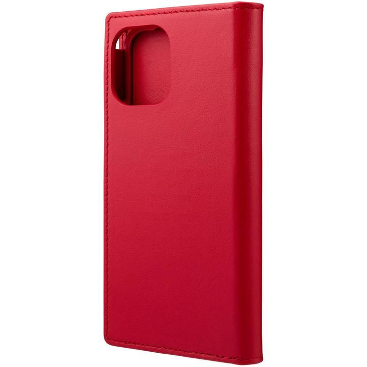 GRAMAS COLORS Italian Genuine Leather 手帳型ケース Red iPhone 12 mini_0