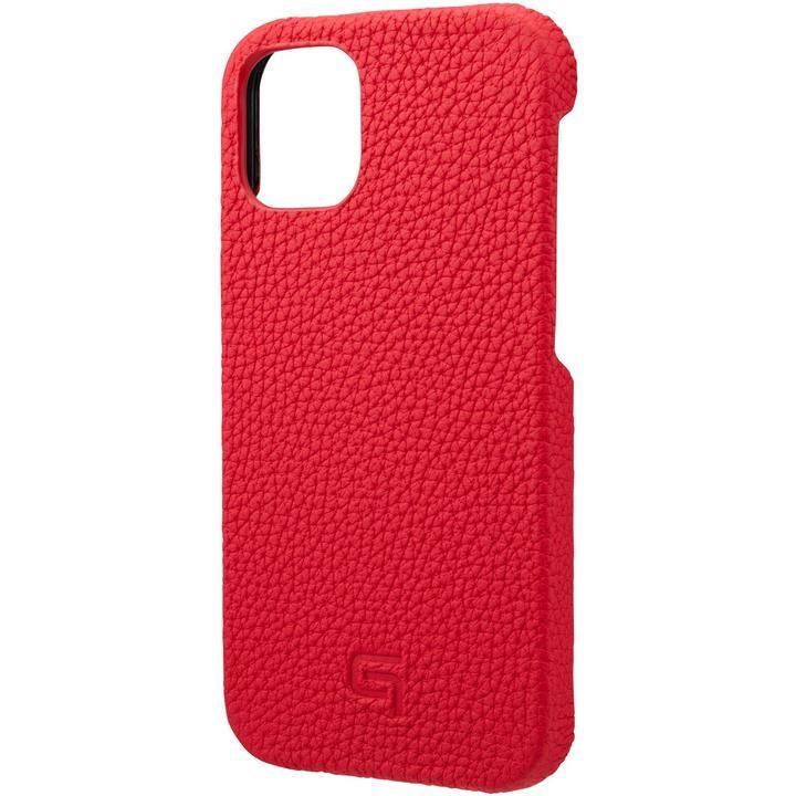 GRAMAS Shrunken-calf Leather シェルケース Red iPhone 12 mini_0