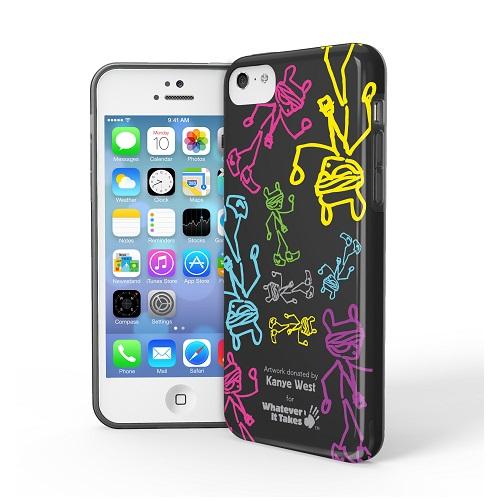 iPhone 5c用プレミアムジェルシェルケースKayne West_0