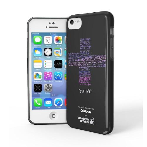 iPhone 5c用プレミアムジェルシェルケースColdplay (黒)