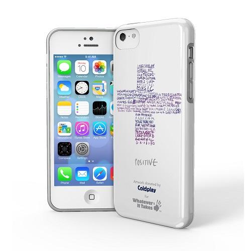 iPhone 5c用プレミアムジェルシェルケースColdplay (白)_0
