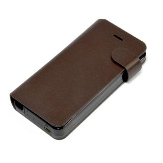 Leather Battery 手帳型ケース for iPhone5 Dark Brown